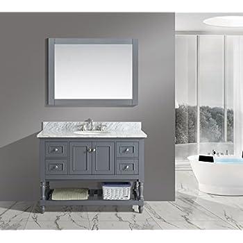 bathroom sink cabinets white. UrbanFurnishing net  Silvia 48 Inch Bathroom Sink Vanity Set Amazon com Jocelyn