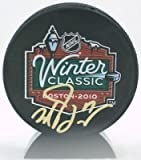Milan Lucic Boston Bruins Signed autographed Winter Classic Puck @ Fenway park