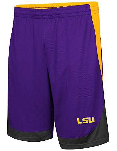 Colosseum Men's Louisana State University Tigers Hall of Fame Basketball Shorts, Large Colosseum Basketball Shorts