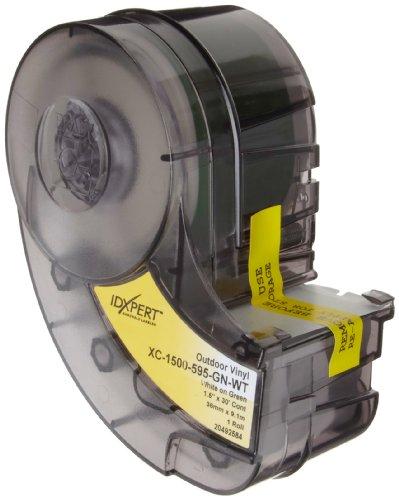Brady XC-1500-595-GN-WT IDXPERT(TM) & LABXPERT(TM) Labels  B- 595 Indoor/Outdoor Vinyl Film White on Green, Printable Area: 19.000