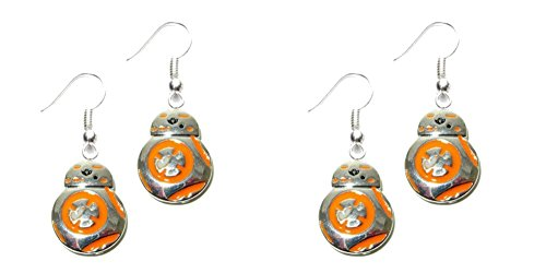 Star Wars Orange Silver Earrings