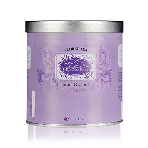 GROENSBJERG Jasmine Green Tea Loose Leaf Organic Tea 3.5 oz 100g (Pack of 12)