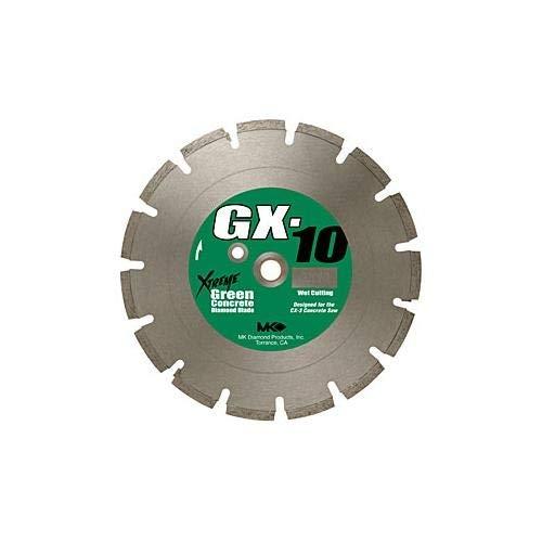 MK Diamond 159620 MK-GX-10 14-Inch Wet Cutting Segmented Saw Blade with 1-Inch Arbor for Green Concrete