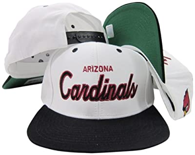 Arizona Cardinals White/Red Script Two Tone Adjustable Snapback Hat / Cap