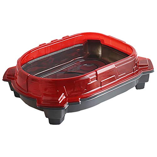 CSSD Burst Turbo Slingshock Beystadium, Exciting Duel Spinning Top Beyblades Launcher Stadium Competitive gyro Toy(Ship from US) (44x35x8cm, Red)