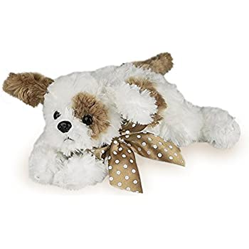 "Bearington Baby Scout Plush Stuffed Animal Brown and White Puppy Dog 8"""