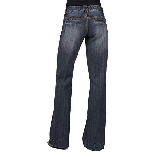 Stetson Women's 214 Fit City Trouser Jeans Denim 8 L Trouser Womens Jeans