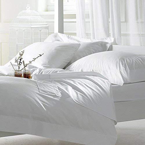 Sheet Set RV-King White 4 pieces 400 TC 100% Cotton Upto 15 Inches Deep Pocket ()