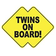 Twins on Board Vinyl Sticker Decal