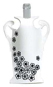 Diseño de jarrón botella MollaSpace Printing, blanco diseño de flores