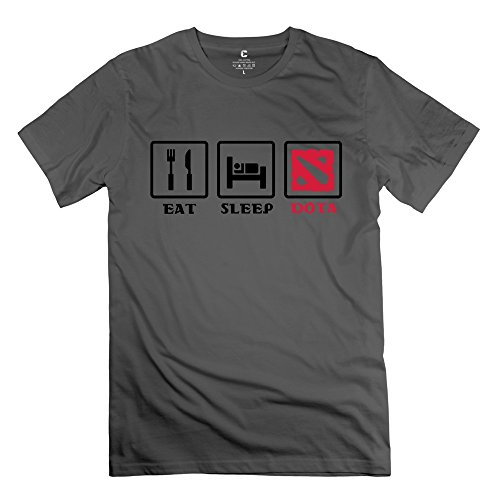 Men's Personalize Eat Sleep Dota T-shirt - Reunion White T-shirt