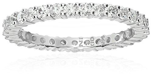 14k White Gold Diamond Prong Eternity Ring (1cttw, H-I Co...