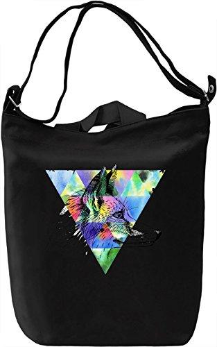 Triangle Wolf Borsa Giornaliera Canvas Canvas Day Bag  100% Premium Cotton Canvas  DTG Printing 