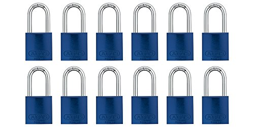 (ABUS 72/40 Aluminum Safety Padlock Blue Keyed Alike - Long Shackle (1-1/2