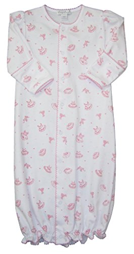Kissy Kissy Baby-Girls Infant Tiny Tutus Print Convertible Gown-Pink-Small