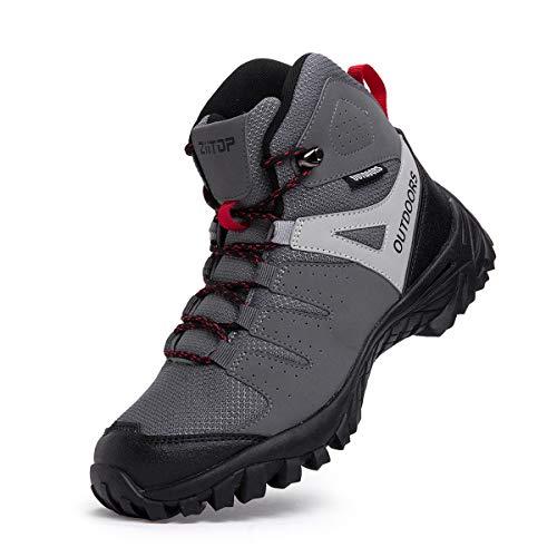 ziitop Chaussures de Randonnée Homme Bottes Tactiques pour Hommes Chaussures de randonnée et de Trekking à Taille Haute… 1