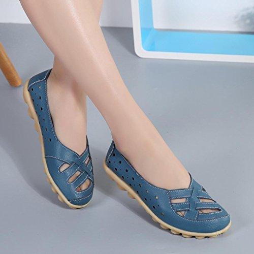 On Il Plus Size Tempo Slip Blue Donna Libero Scarpe Lazy Lavoro Mocassini Da Per Shoes Transer Soft Casual nvzqxIdq