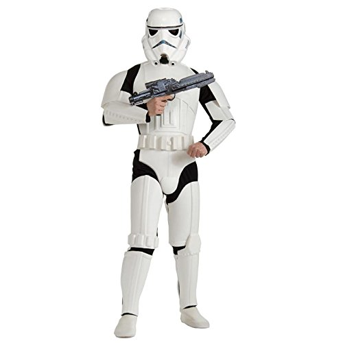 Rubie's Costume Star Wars Deluxe Stormtrooper, White, One Size (Star Wars Costumes Stormtrooper)