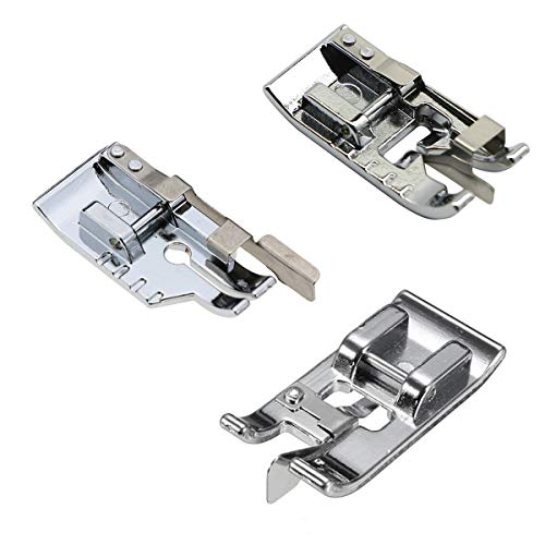 Best Price! 3pcs Sewing Machine Presser Foot Set - 1/4 Inch Quilting Foot/Overcast Presser Foot/Edge...