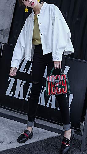 Giacca Cime Jacket Bianca Oufour Coat Primavera Con Cappotto Bottoni Outerwear Lunga Autunno Tops Casual Giacche E Donna Manica vpvRrq0