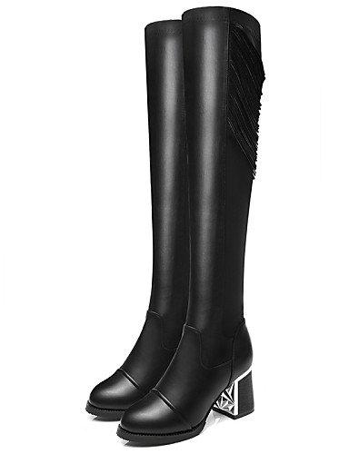 Uk6 5 us8 us6 A Zapatos Mujer Robusto Botas Eu39 Negro Sintético Moda Eu36 La 5 Casual Vestido Cn40 Noche Fiesta Black Cn36 Xzz Uk4 Y De Tacón Moto Black HYUw4U1q
