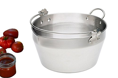 Homemade Jam Pot Stainless Steel Maslin Pan For Jelly & Soup,Canning Tools (4.5Litre - - Jelly Pot