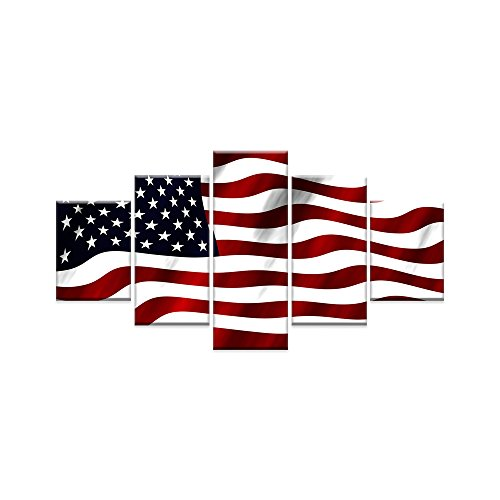 American Flag Canvas USA Flag Print Art Black and White Red