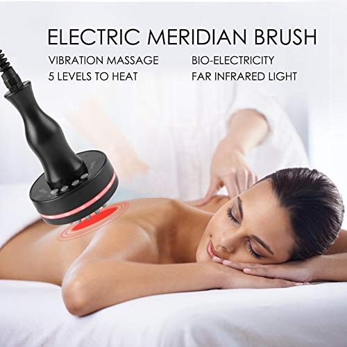 Meridian Brush, Infrared Micro-Electric Heating Health Scraping Device Slimming Body Brush, Gentle Natural Cellulite Massager and Exfoliating Lymphatic Scrub Brush For Radiant and Smoother Skin by Salmue (Image #2)