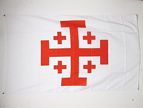 AZ FLAG Bandera del Orden Santo SEPULCRO DE JERUSALÉN 150x90cm - Bandera Cristiana 90 x 150 cm: Amazon.es: Hogar