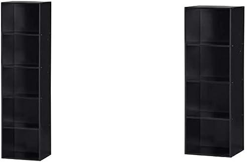 Hodedah Import 5 Shelf Bookcase