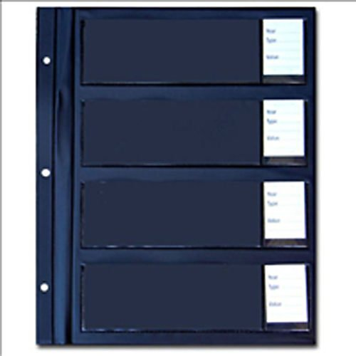 Whitman Coins Currency Album Page, 4 Pocket