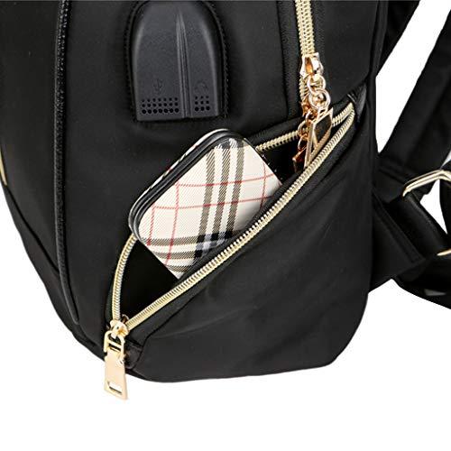Bandoulière Daypacks Dabixx Rose USB À Dos Sacs Charge Rose Sacs Imperméable Nylon Femmes en Camouflage Camouflage À Casque 7wC7Oqrf