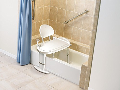 Moen Non Slip Adjustable Transfer Bench, Glacier White (DN7105)