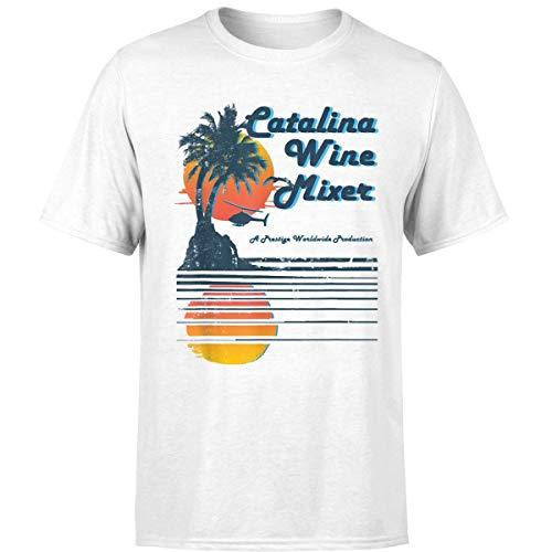 Catalina Wine Mixer Vintage T Shirt (Unisex T-Shirt/White/L) ()