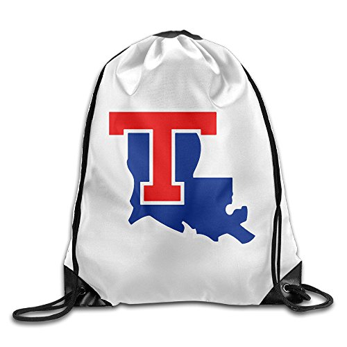 (JOKEme Louisiana Tech Bulldogs University Logo Drawstring Backpacks/Bags )