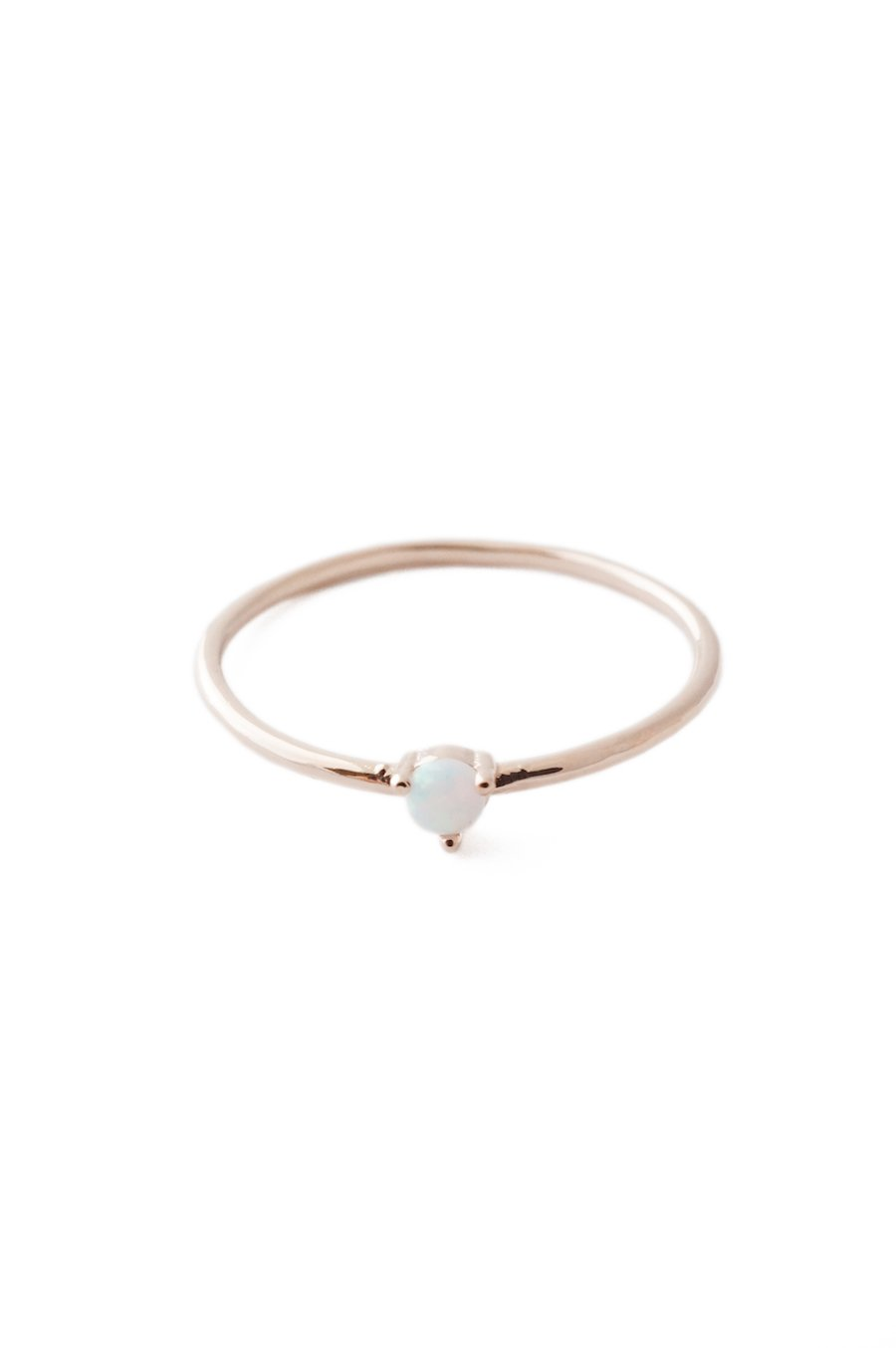 HONEYCAT Opal Orb Crystal in 18k Rose Gold Plate | Minimalist, Delicate Jewelry (Rose Gold 7) by HONEYCAT