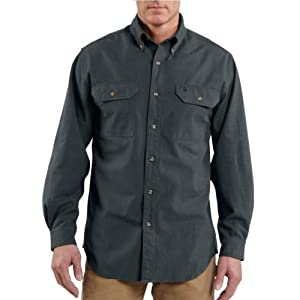 Carhartt Men's Long-Sleeve Lightweight Chambray Button-Front Relaxed-Fit Shirt S202