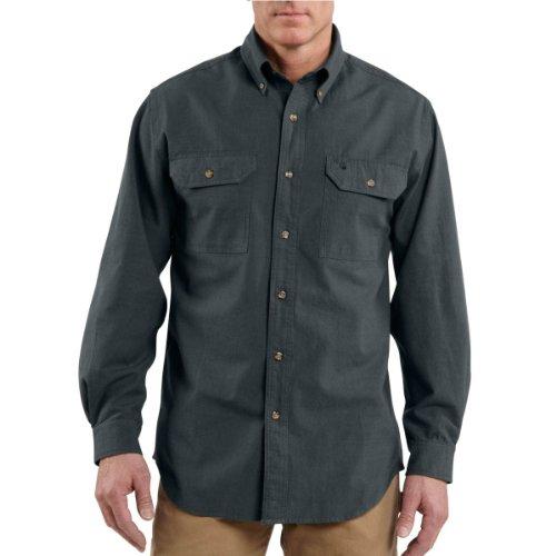 Carhartt men 39 s long sleeve lightweight chambray button for Carhartt men s long sleeve lightweight cotton shirt