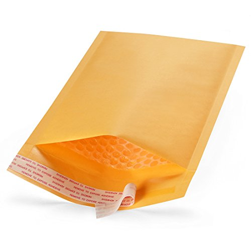 Shiplies #0 Padded Envelopes Kraft Paper Bubble Mailers with Peel-N-Seal, 25 Pieces (6 x 9 Inches)