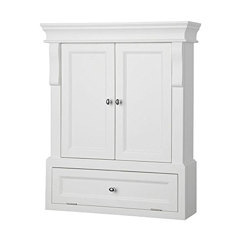 Foremost NAWO2633 Naples 26-1/2 Inch Bathroom Wall Cabinet, - New Medicine York Cabinet