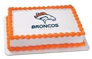 "8"" Round ~ NFL Denver Broncos Football Logo ~ Edible Image Cake/Cupcake Topper!!!"
