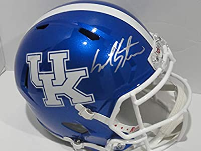 Mark Stoops Signed Kentucky Wildcats Full-size Replica Speed Helmet Proof Coach