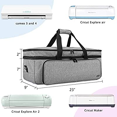 Cover Compatible with Cricut Explore Air 2 Dust Cover Compatible with for Circut Maker Luxja Cricut Dust Cover Enclosed on The Bottom Grey
