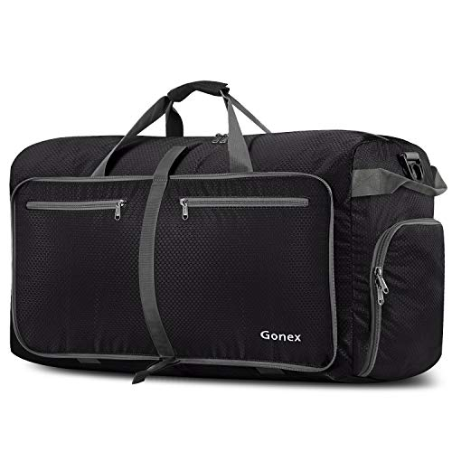 Gonex 100L Packable Travel Duffle Bag, Extra Large Luggage Duffel (Black)]()