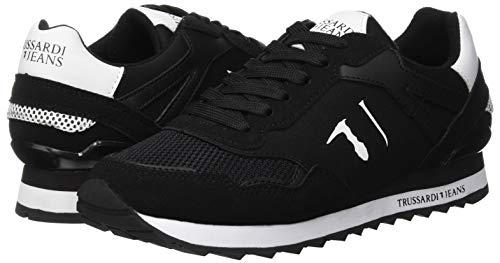 Jeans Femme Gymnastique De K308 White black nero Noir Chaussures Trussardi Running 7779 Xw1dTT