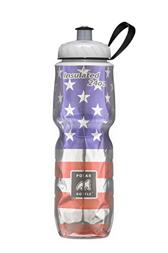 Polar Bottle Insulated Water Bottle 24 oz - Flag Series - 100% BPA-Free Cycling and Sports Water Bottle (Stars and Stripes, 24 Ounce)