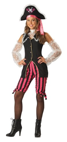 Captain Cutie Girls Pirate Costumes (Deluxe Teen Captain Cutie Pirate Costume - Teen 9-11)