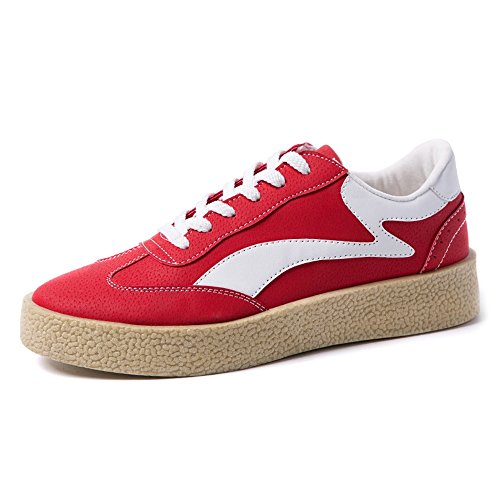 Top Pelle Scarpe Casual Cricket Resistente Sintetica Tela da in Piatte da Uomo Mocassini Scarpe Red Sportive in Low 6CwFn1v