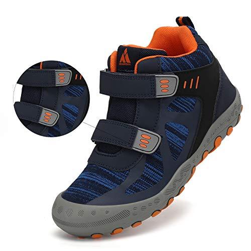 Mishansha Chaussures de Randonnée pour Enfants Garçon Bottes de Fille Marche de Trekking Sport de Plein Air 4