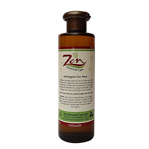 Astringent for Men 150ml Deep cleanses away the layers of dirt on the skin Zen Personal Care